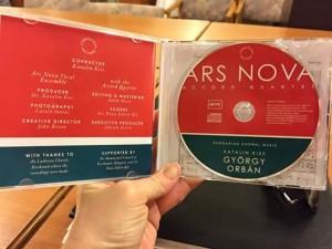 Ars Nova Énekegyüttes új CD