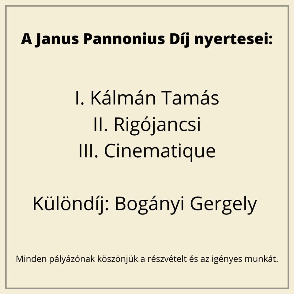 I. díj – Janus hangjai pályázat